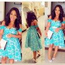 Hi-Lo Off-the-Shoulder Elegant Homecomig Dress