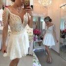 Mini Lace Homecoming Dresses Deep V-Neck Dresses Party Dresses