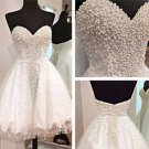 A-Line Crystal Short Sweetheart Open-Back Homecoming Dress