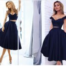 Black Two Pieces Homecoming Dress, Sexy Off Shoulder Homecoming Dress