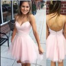 Sweethert Tulle Pink Homecoming Dress, Strapless Sexy Homecoming Dress