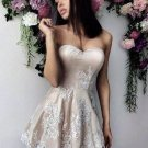 Sweetheart Applique White Homecoming Dress, Off Shoulder Homecoming Dress