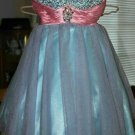 Blue Sweetheart Crystal Homecoming Dress, Short Prom Homecoming Dress