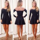 Black Long Sleeve Homecoming Dress, Tight Short Homecoming Dress