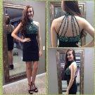 Black Halter Homecoming Dress, Sexy Short Homecoming Dress
