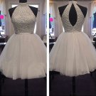 Tulle ShortMini Sashes A-line High Neck Ribbons Homecoming  Dresses