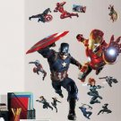Avengers Captain America Iron Man Wall Decal Art Civil War+ Thor Hammer Keychain
