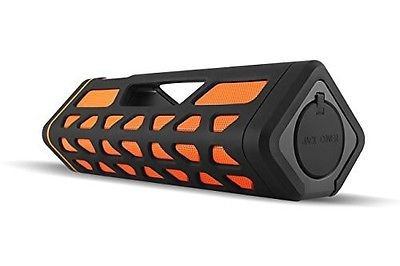 Wireless Bluetooth Speaker Extra Bass, Rechargeable Black/Orange