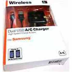 Just Wireless 705954042648 Dual USB A/C Charger - Fits Samsung - High Speed Char
