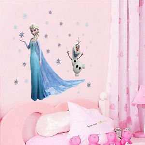 Wall Disney Frozen Elsa Stickers Decal Removable Decor Sticker Olaf Kids Room