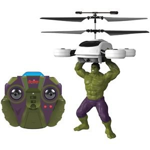 2-Channel Marvel The Hulk Helicopter with Action Phrases