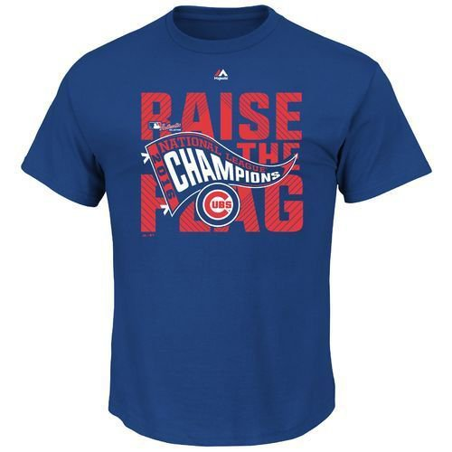 World Series Majestic Mens Chicago Cubs 2016 NLCS Champions Locker Room T-shirt