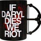 Walking Dead If Daryl Dies We Riot Crossbow Mug Walking Dead Series Coffee Cup