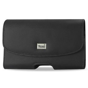 Reiko Horizontal Pouch Blu Studio 5.5 Plus Black Cell Phone With Cover Size