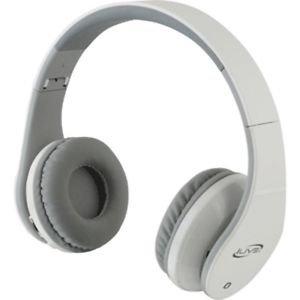 Bluetooth Stereo Headphones w/Microphone - White