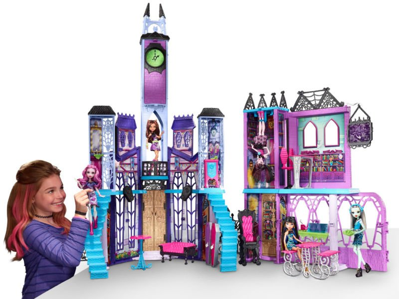 Monster High School Playset Dollhouse Accessories Dolls Toy Castle Haunted  New