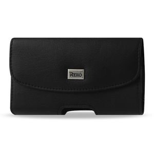 Reiko Horizontal Pouch Apple Iphone 4G Plus Black Cell Phone With Cover