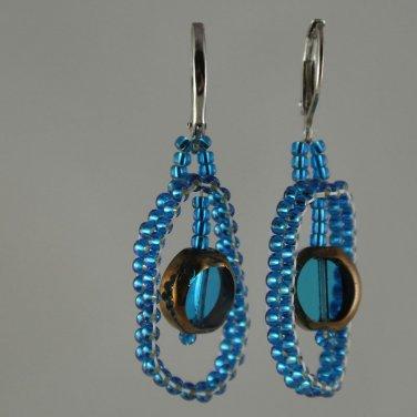 London Blue Glass Hoop