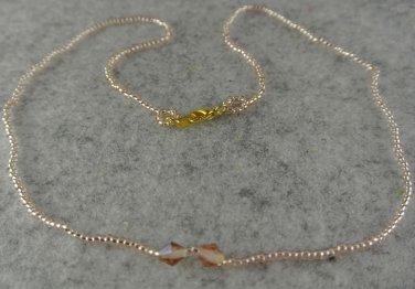 """18"""" Peach Delica Necklace"""