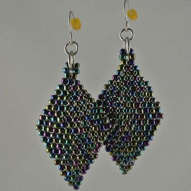 Iridescent Metallic Glass Earrings