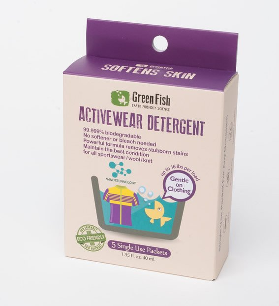 Greenfish Activewear All in One Laundry Detergent. 5 Single use packets