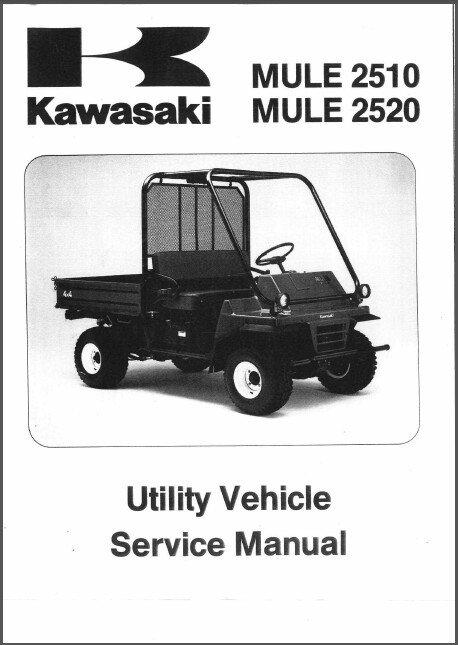 1993-2000 Kawasaki MULE 2510 / 2520 UTV Service Repair Workshop Manual CD KAF620