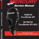 Mercury 75 90 115 EFI / 80 100 115 (EU) EFI Outboard Motors Service Manual CD