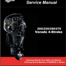 Mercury 200 225 250 275 Verado 4-Stroke Outboard Motors Service Manual on a CD