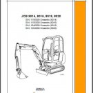 JCB 8014 8016 8018 8020 Mini Excavator Service Repair Workshop Manual CD