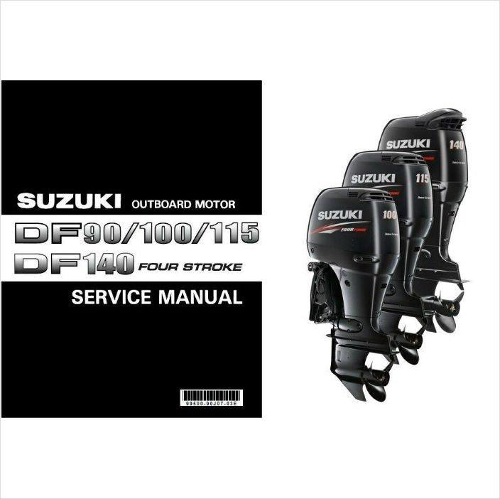 01-12 Suzuki Outboard DF90 DF100 DF115 DF140 Service Manual CD DF 90 100 115 140