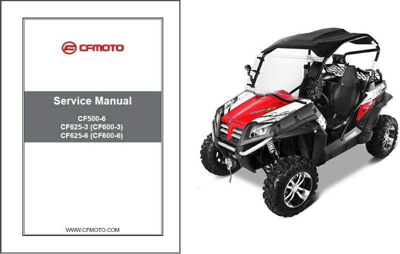 CFMoto Terracross Z6 Z6EX Z5 CF625-3 CF625-6 CF500-6 Service Repair Manual CD