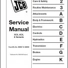 JCB 3CX 4CX Backhoe Loader Service Repair Manual CD