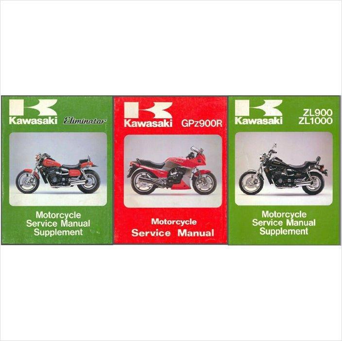 Kawasaki ZL900 ZL1000 Eliminator GPz900R Service Repair Manual CD .. ZL 900 1000