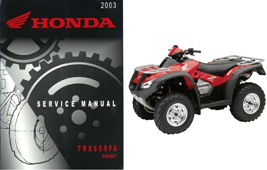 03-05 Honda TRX650FA Rincon Fourtrax Service Repair Manual CD -- TRX650 650 FA