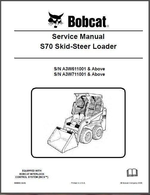 Bobcat S70 Skid Steer Loader Service Repair Workshop Manual CD - S 70