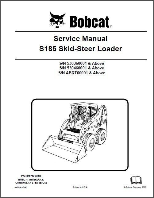 Bobcat S185 Skid Steer Loader Service Repair Workshop Manual CD - S 185