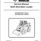Bobcat S220 Skid Steer Loader Service Repair Manual CD -- S 220