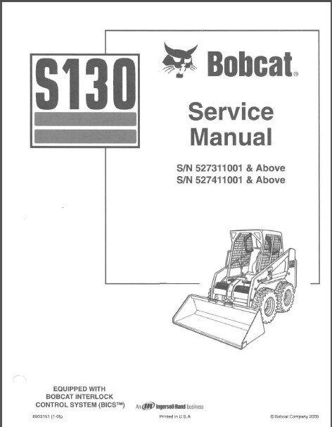 Bobcat S130 Skid Steer Loader Service Repair Manual CD - S 130