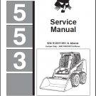 Bobcat 553 Skid Steer Loader Service Repair Manual CD
