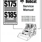 Bobcat S175 / S185 Turbo High Flow Skid Steer Loader Service Repair Manual CD