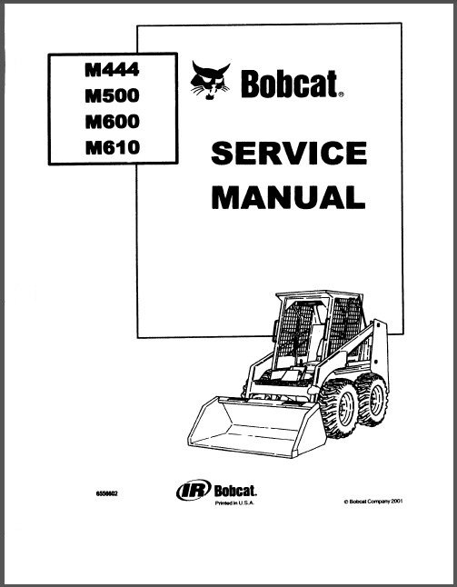 Bobcat M444 M500 M600 M610 Skid Steer Loader Service Repair Manual CD