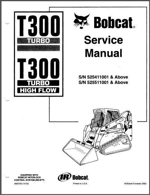 Bobcat T300 Turbo Skid Steer Loader Service Repair Workshop Manual CD -- T 300