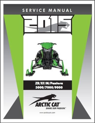 2015 Arctic Cat ZR XF M Pantera 5000 7000 9000 Snowmobiles Service Manual CD