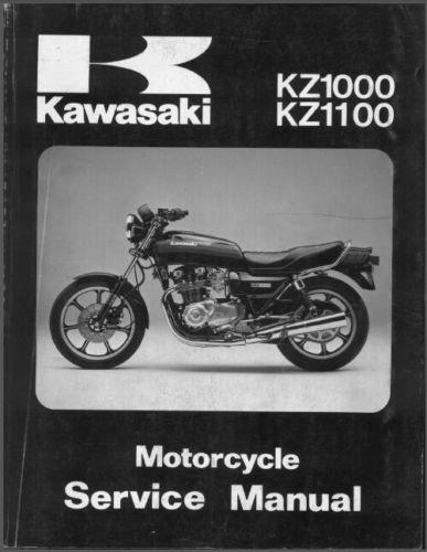 1981-1982-1983 Kawasaki KZ1000 / KZ1100 Service Manual on a CD