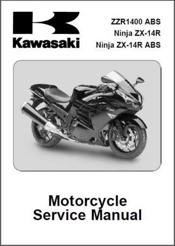 2012-2013 Kawasaki Ninja ZX-14R / ZZR1400 ABS Service Manual on a CD