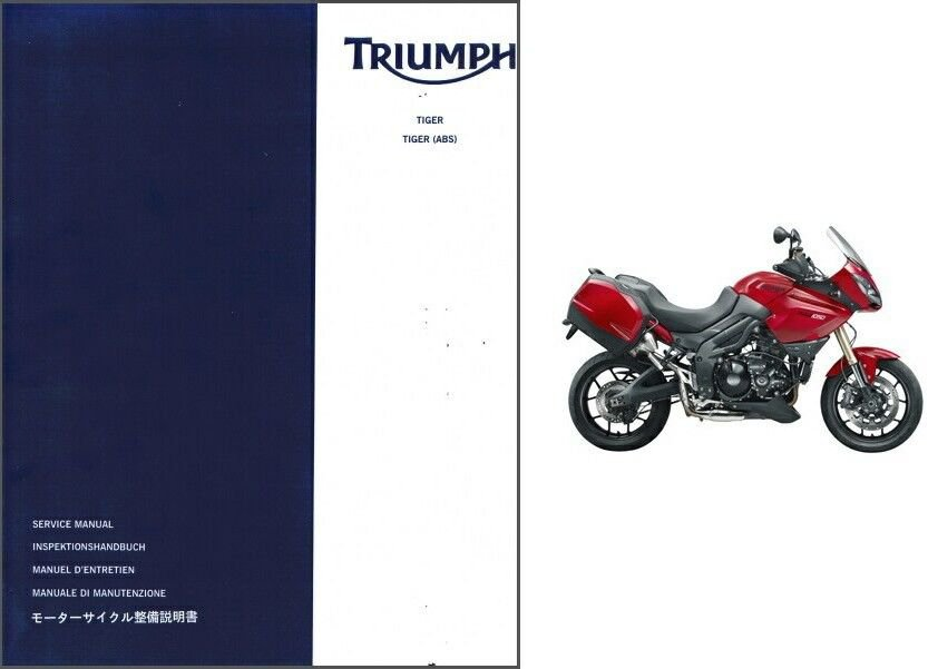 2006-2012 Triumph Tiger / Tiger ABS 1050 cc Service Manual on a CD