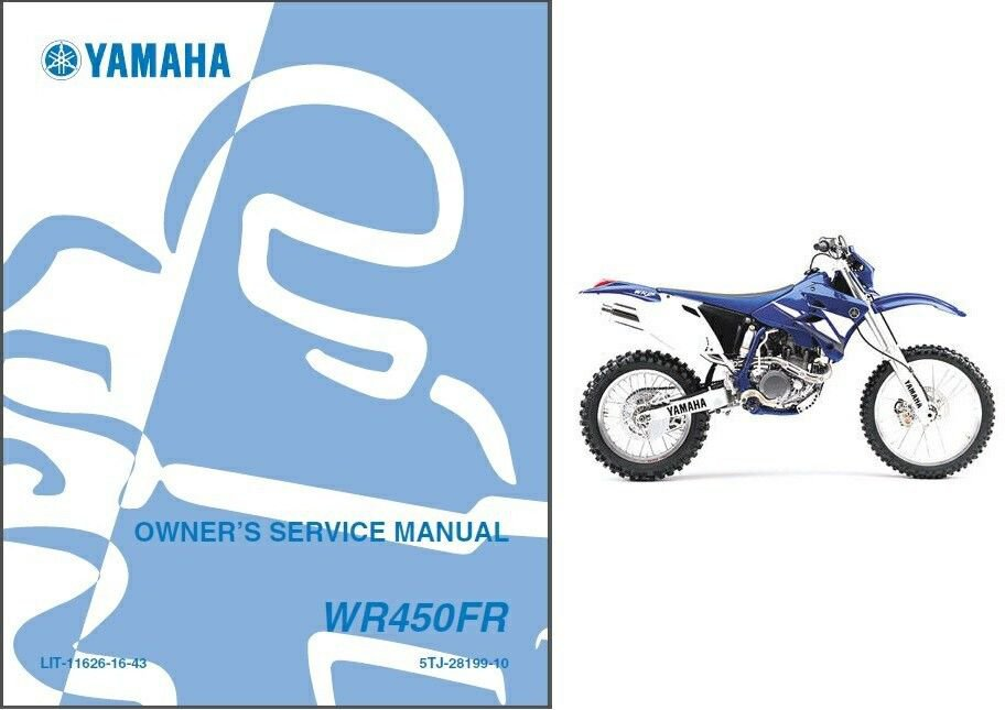 2003-2011 Yamaha WR450F Service Repair Workshop & Owner's Manual CD -- WR 450 F