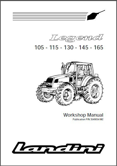 Landini Legend 105 115 130 145 165 Tractor Repair Service Workshop Manual CD