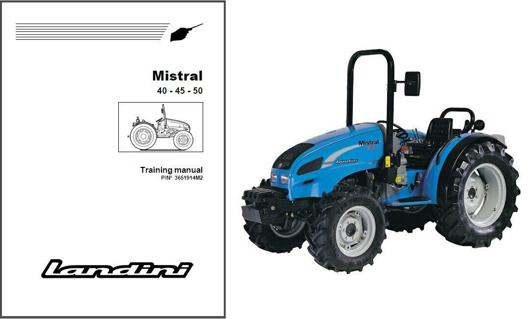 Landini Mistral 40 45 50 Tractor Training Repair Workshop Service Manual CD