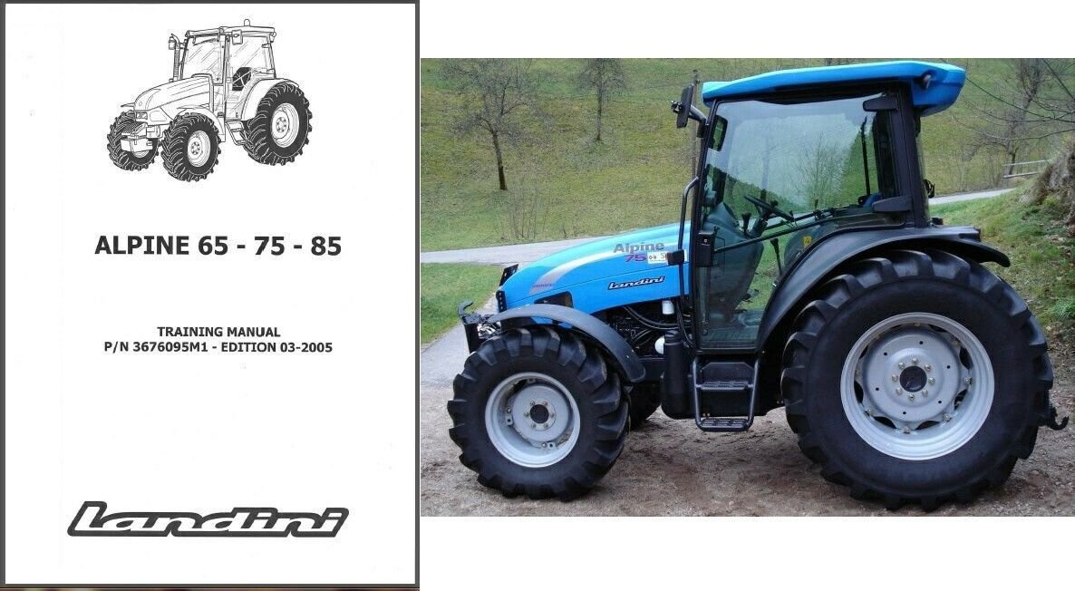 Landini Alpine 65 75 85 Tractor Training Repair Service Workshop Manual CD